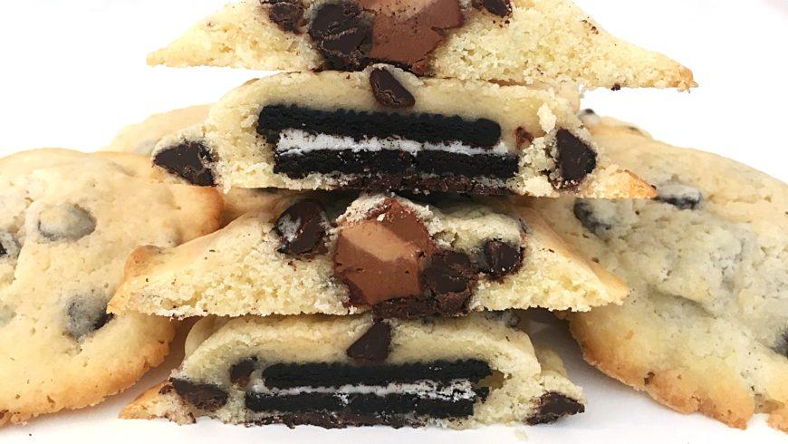 Cookies rellenas con Oreos y Marroc
